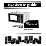 Whirlpool MW8500XP User's Manual