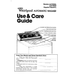 Whirlpool LA6700XK User's Manual