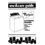 Whirlpool LA5805XM User's Manual