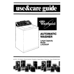 Whirlpool LA531OXP User's Manual