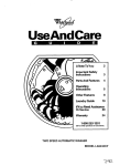 Whirlpool LA5243XY User's Manual
