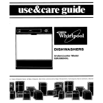 Whirlpool GDU3024XL User's Manual