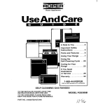 Whirlpool FGS385B User's Manual