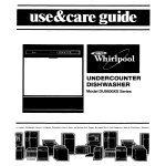 Whirlpool DU95OOXS User's Manual