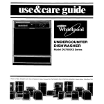 Whirlpool DU78OOXS User's Manual