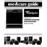 Whirlpool DU7770XS User's Manual