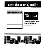 Whirlpool DU4500XM User's Manual