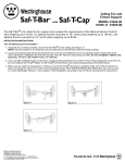 Westinghouse Saf-T-Bar, Can be used with Engineered Trusses with 1-1/2 Inch Deep Box 0152511 Instruction Manual