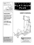 Weider WESY7974.O User's Manual