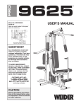 Weider WESY9625C User's Manual