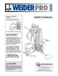Weider WESY3952 User's Manual