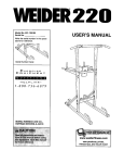 Weider 831.1591 User's Manual