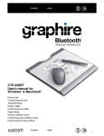 WACOM GRAPHIRE CTE-630BT User's Manual