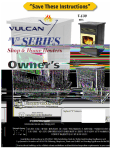 Vulcan-Hart Home Heaters User's Manual