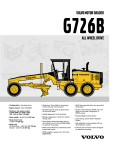 Volvo G726B User's Manual