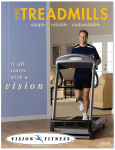 Vision Fitness T1450 User's Manual