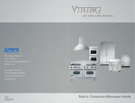 Viking Built-In Convection Microwave Hood User's Manual