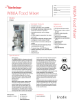 Varimixer W80A User's Manual