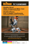Triton Tools DOUBLE BEVEL SIDE COMPOUND MITRE SAW User's Manual