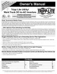 Tripp Lite Utility/ Work Truck DC-to-AC Inverters User's Manual