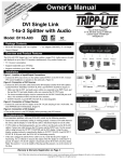 Tripp Lite B116-A03 User's Manual