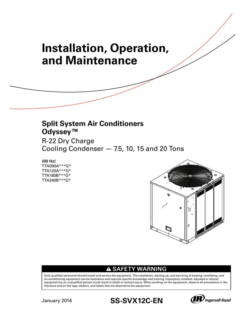 Trane Tta Condensing Unit Wiring Diagram    Wiring Diagram