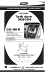 Toyota 95-8211 User's Manual