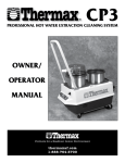 Thermax CP3 User's Manual