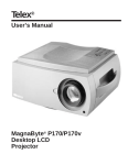 Telex Projector P170 User's Manual