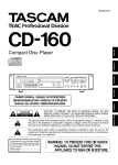 Tascam CD-160 User's Manual