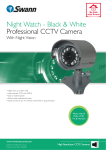 Swann Professional CCTV Camera SW-C-NWBW User's Manual