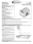 Suncast dh350 User's Manual
