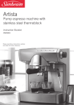Sunbeam Coffeemaker EM5900 User's Manual