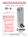 State Industries GPO 86-199 User's Manual