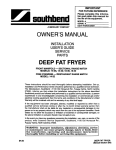 Southbend 14-36 User's Manual