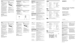 Sony XM-ZR6022 User's Manual