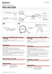 Sony POC-DA12SP User's Manual