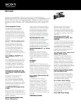 Sony NEX-VG20 User's Manual