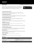 Sony MEX-BT3000P Marketing Specifications