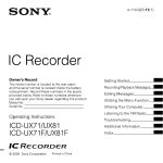 Sony ICD-UX81 User's Manual