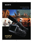 Sony HVR-V1P User's Manual