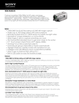 Sony HDR-PJ200/S Marketing Specifications