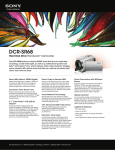 Sony DCR-SR68/L Marketing Specifications