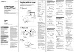 Sony D-M805 User's Manual