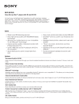 Sony BDP-BX520 Marketing Specifications