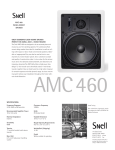Snell Acoustics AMC 460 User's Manual