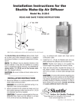 Skuttle Indoor Air Quality Products D-28-6 User's Manual