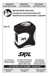 SKIL 8201-CL User's Manual