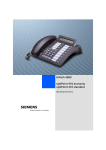 Siemens OptiPoint 410 User's Manual