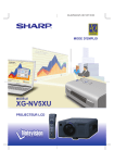Sharp XG-NV5XU Owner's Manual